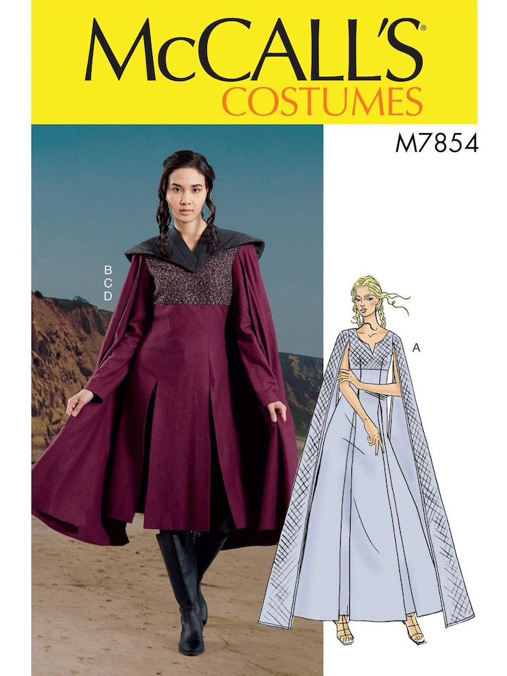 Game of Thrones S7 Dragonstone Daenerys Targaryen costume pattern McCall's 7854