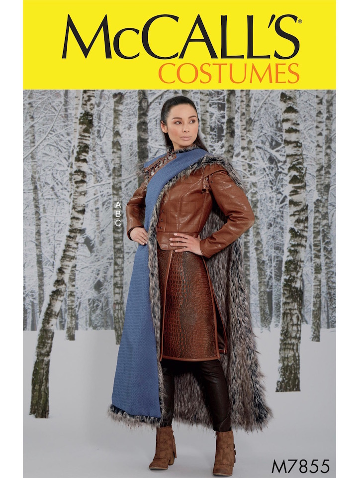 Game of Thrones S7 Arya Stark Winterfell costume pattern McCall's 7855