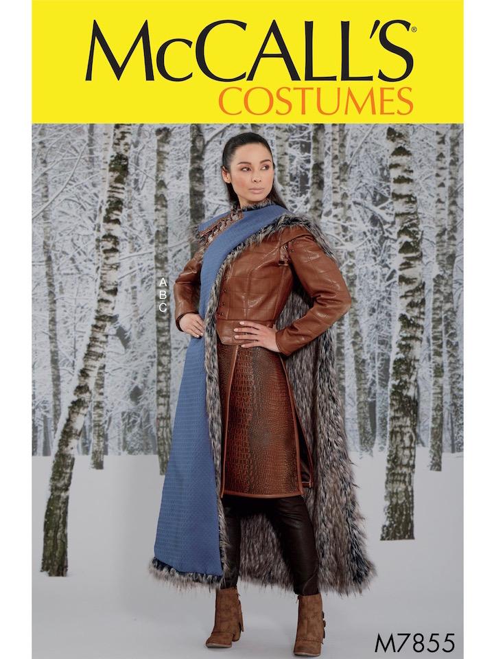 Game of Thrones S7 Arya Stark Winterfell costume pattern McCall's 7855