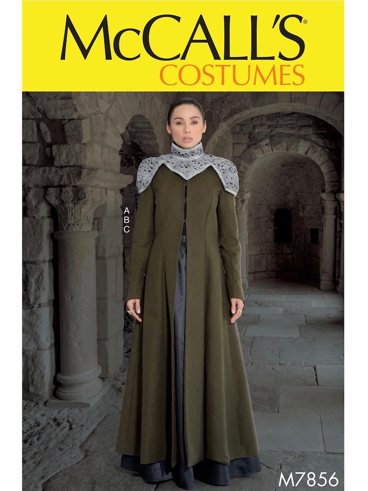 Game of Thrones S7 Cersei Lannister costume pattern McCall's 7856