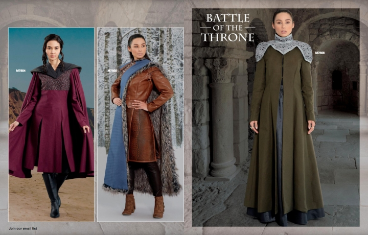 Battle of the Throne: Game of Thrones-inspired costumes in the McCall's Fall 2018 lookbook