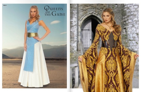 Game of Thrones costume patterns M6941 and M6940 in McCall's Spring 2014 lookbook