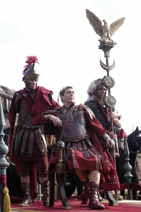 Ciarán Hinds as Julius Caesar in HBO's Rome (2005) - costumes by April Ferry