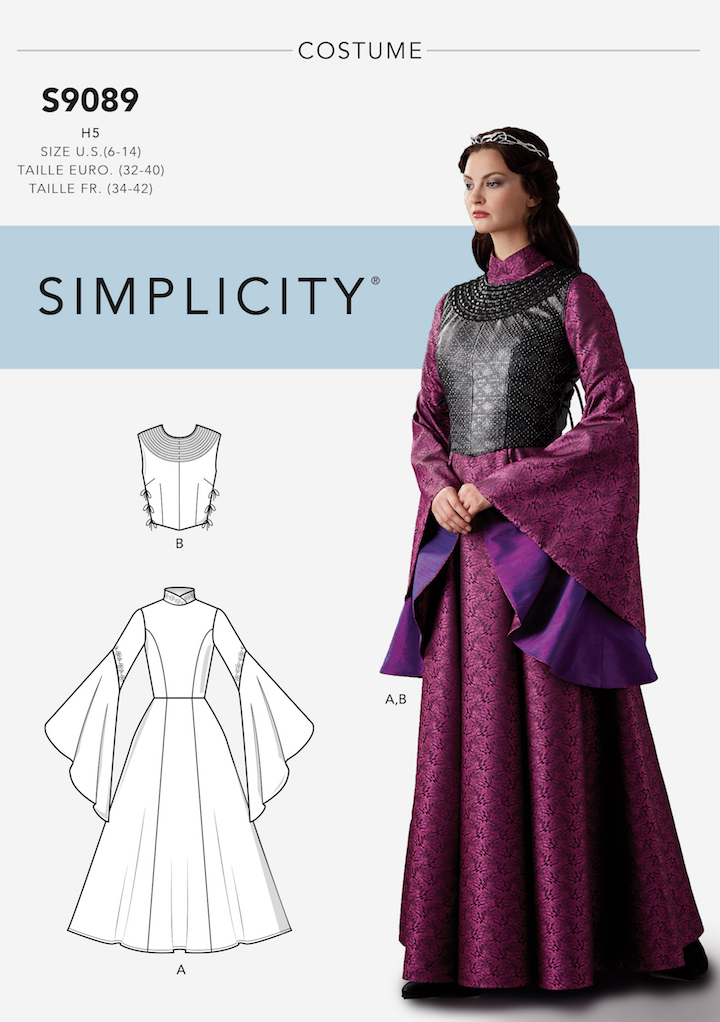 Sansa Stark, Queen in the North costume - Simplicity 9089