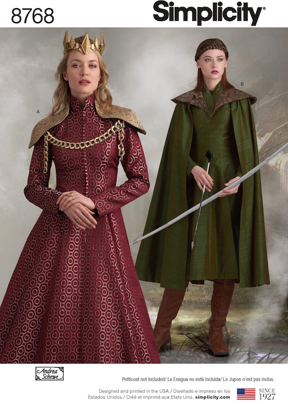 Cersei Lannister and S7 Daenerys costume pattern Simplicity 8768 by Andrea Schewe