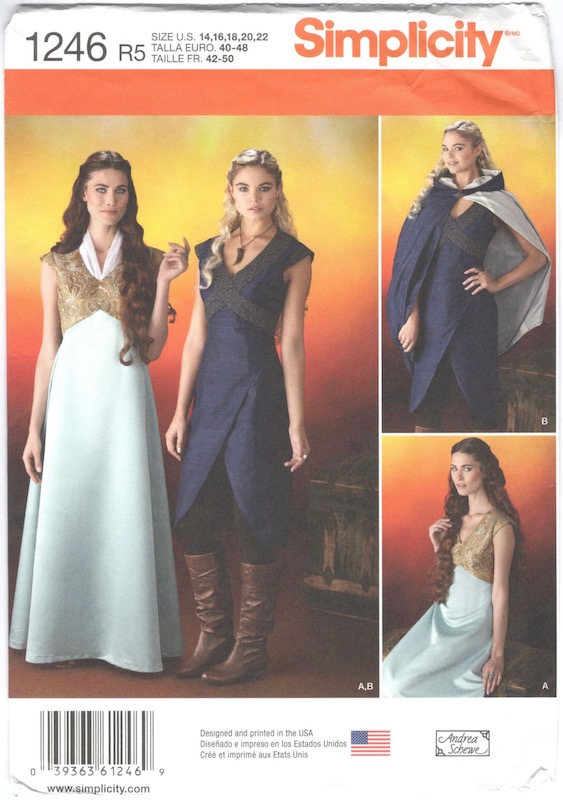 Game of Thrones / Margaery Tyrell and Daenerys costume pattern Simplicity 1246
