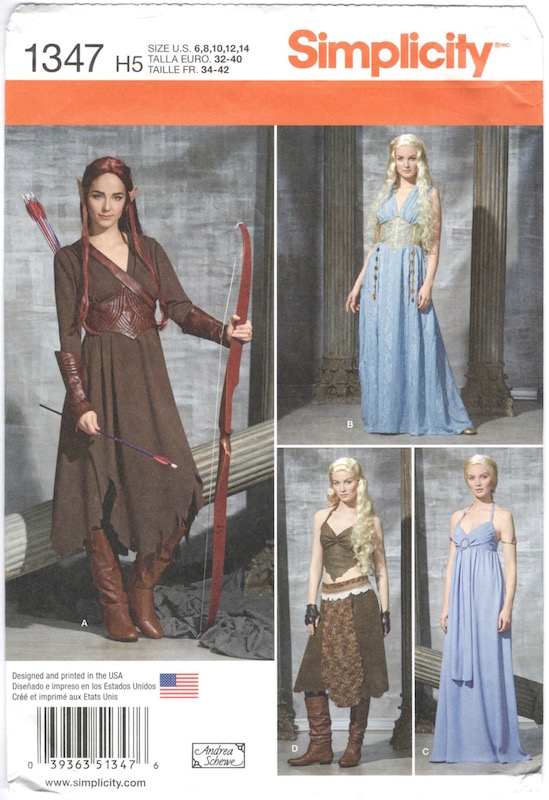 Simplicity 1347 (2014) Daenerys Targaryen / Tauriel costume