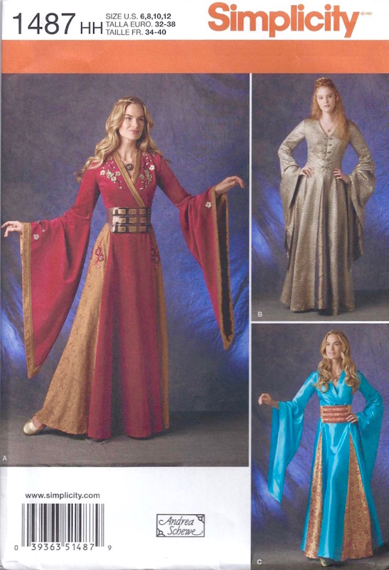 Game of Thrones Cersei / Sansa costume pattern S1487