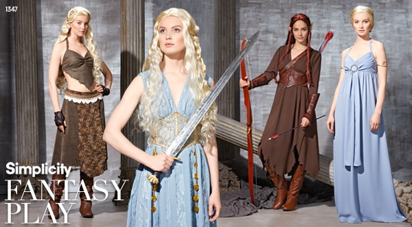 Game of Thrones / The Hobbit: The Desolation of Smaug costume pattern S1347 in a 2014 lookbook