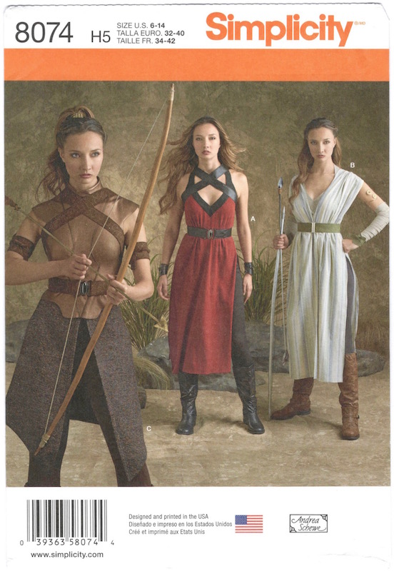 Game of Thrones + Star Wars / Sand Snakes + Rey costume pattern Simplicity 8074