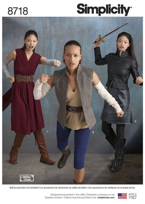 Game of Thrones + Star Wars / Arya Stark + Rey costume pattern Simplicity 8718