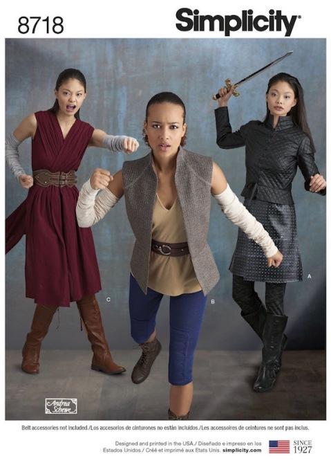 Last Jedi Rey and executioner Arya costume Simplicity 8718 (Andrea Schewe)