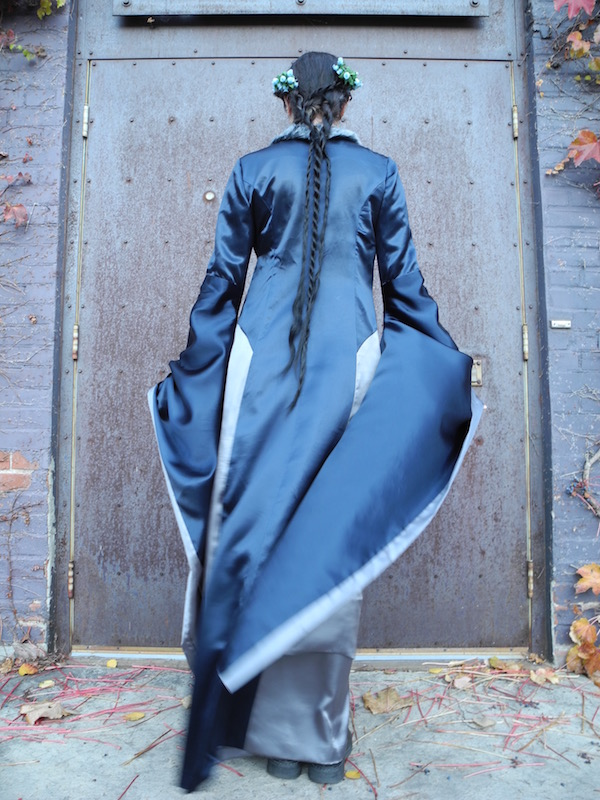 Lyanna Stark costume, back view (McCall's 6940)