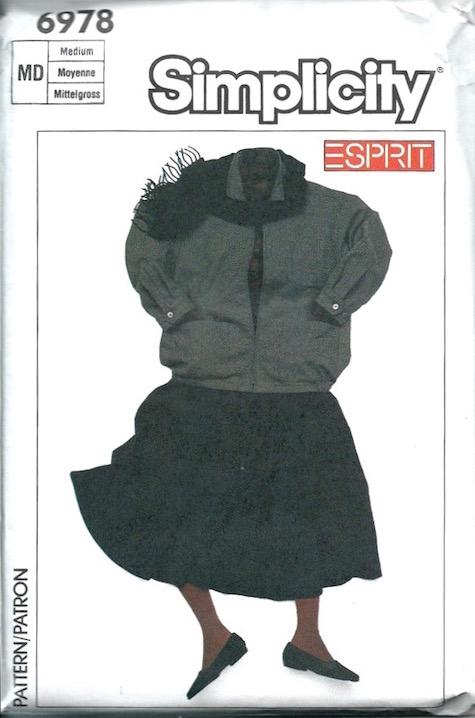 1980s Esprit pattern - Simplicity 6978