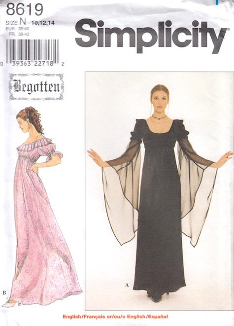 1990s Begotten gothic dress pattern - Simplicity 8619