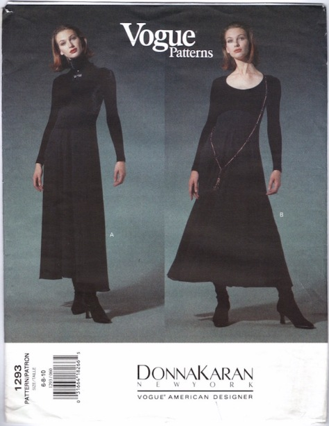 Early 1990s Donna Karan dress pattern - Vogue 1293