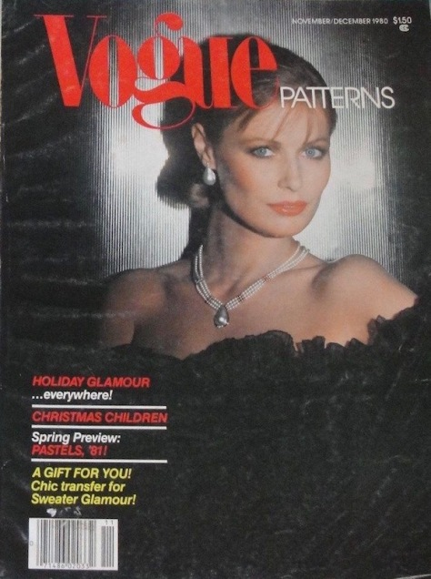 Vogue 2604 by Nina Ricci on the cover of Vogue Patterns NovDec 1980Image: eBay. 2604