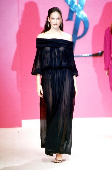 Astrid Muñoz in Yves Saint Laurent