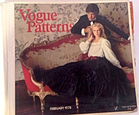 1970s Vogue Patterns catalogue cover featuring Vogue 1776 by Oscar de la Renta