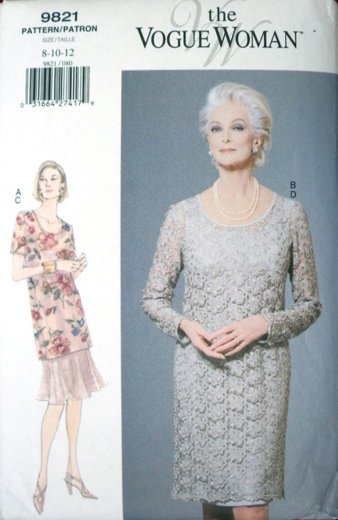 Carmen Dell'Orefice models 1990s Vogue 9821