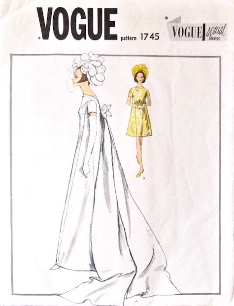 1960s bride's or bridesmaid's dress pattern Vogue Special Design 1745