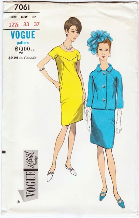 1960s dress and jacket pattern Vogue Special Design 7061