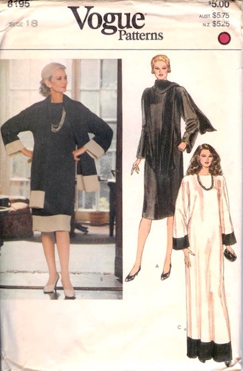 Carmen Dell'Orefice on a 1980s Vogue pattern, V8195