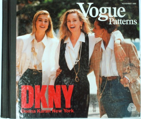 DKNY patterns 2373, 2371, 2375, 2372, 2376 - Vogue Patterns catalogue, November 1989