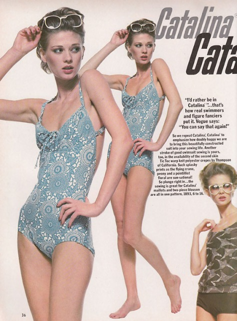 Vogue 1893 by Catalina in Vogue Patterns May/June 1978