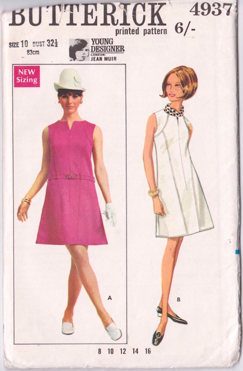 1960s Jean Muir dress pattern Butterick 4937