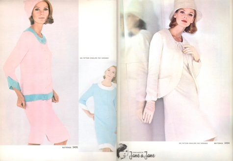1960s Jean Muir Jane & Jane patterns Butterick 3495 and 3494