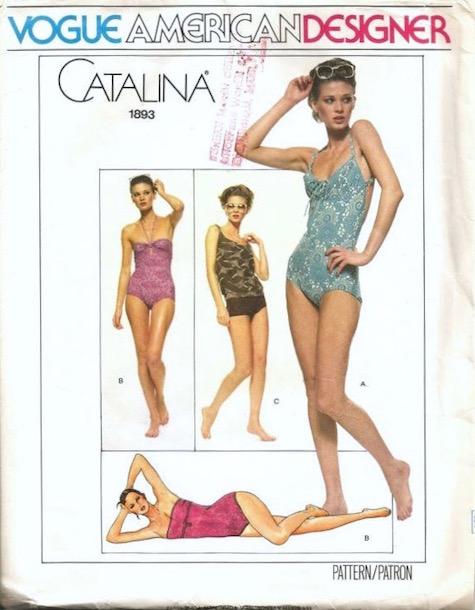 1970s Catalina swimsuit pattern Vogue 1893