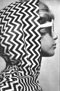 Beach jumpsuit pattern photo by Brian Duffy, 1965