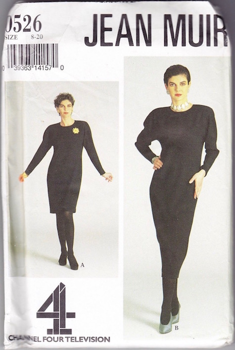 "1990s Jean Muir dress pattern for the Channel Four series ""Very Jean Muir"""