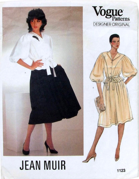 1980s Jean Muir top and skirt pattern Vogue 1123