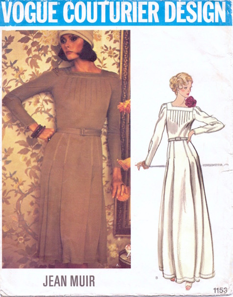 1970s Jean Muir dress pattern Vogue 1153