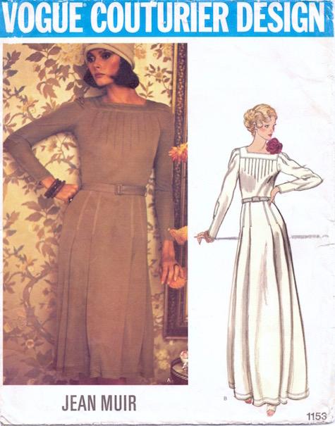 1970s Jean Muir dress pattern Vogue 1153