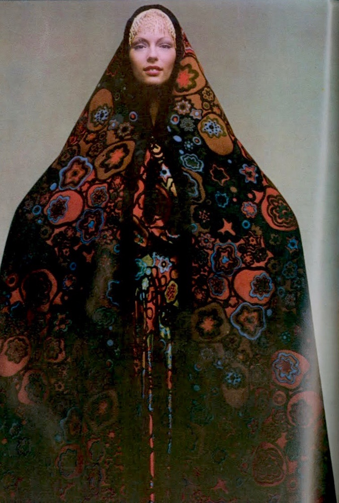 Ann Schaufuss in Vogue Paris Original 2406 by Nina Ricci, photographed by Clive Arrowsmith, 1970