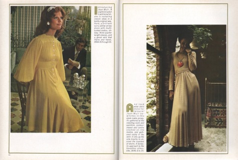 Introducing Jean Muir: 1970s dress patterns Vogue 2664 and 2646