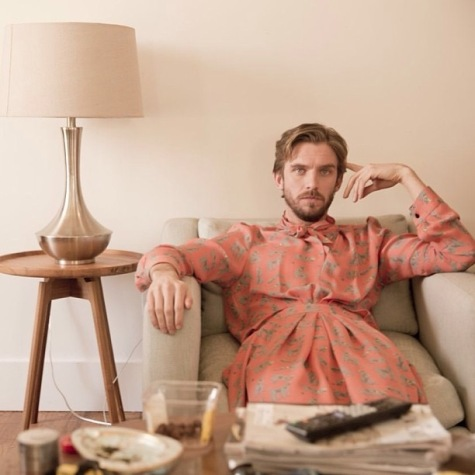 Dan Stevens in Rachel Comey's Pierrot dress, Pre-Fall 2013