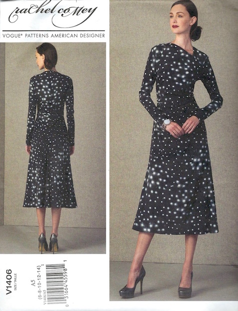 Rachel Comey Surveillance dress pattern Vogue 1406