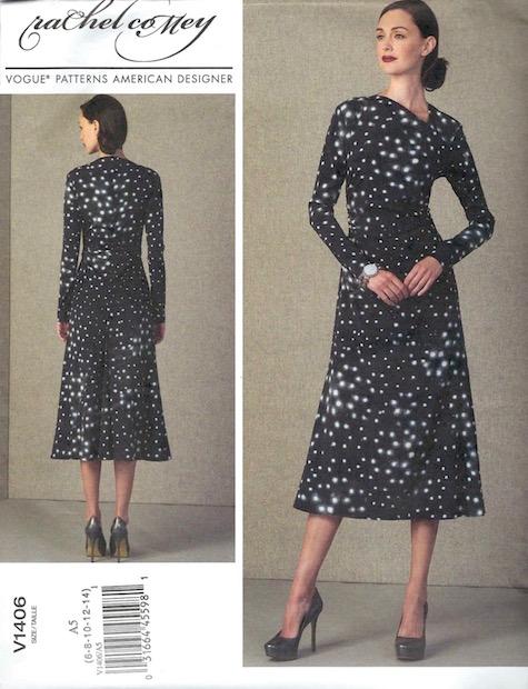 Rachel Comey Surveillance dress pattern Vogue 1406