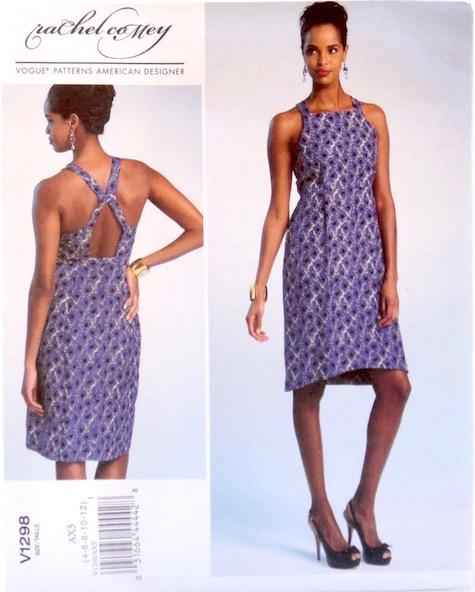 Tippet apron dress pattern by Rachel Comey, Vogue 1298