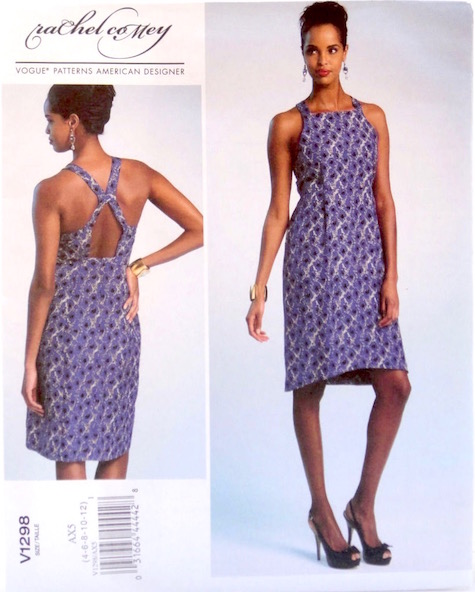 Tippet apron dress pattern by Rachel Comey, Vogue 1298