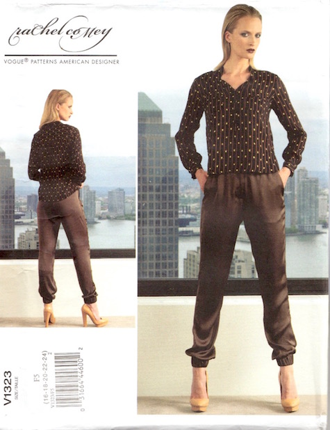 Rachel Comey top and pants pattern Vogue 1323