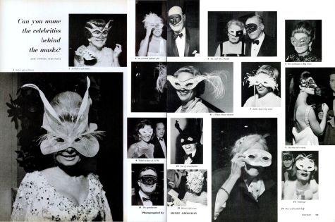 Can you name the celebrities behind the masks? Guests at the Black and White Balls, 1966 photographed for LIFE by Henry Grossman