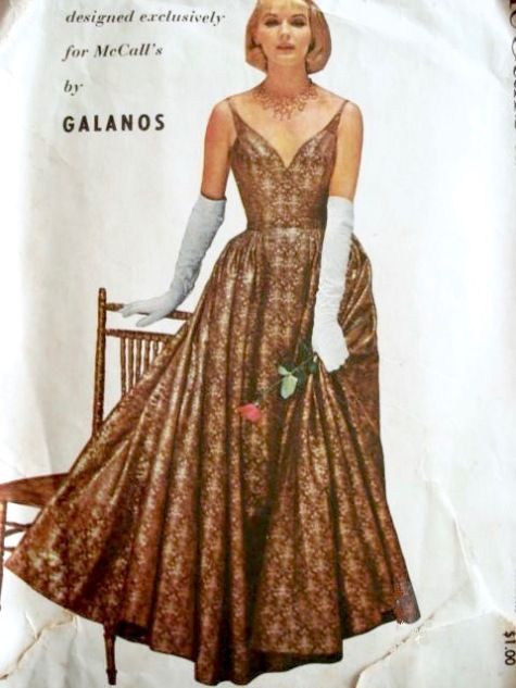 1950s James Galanos evening dress pattern McCall's 3894