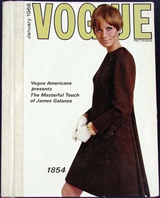 """Vogue Americana presents The Masterful Touch of James Galanos"": Maud Adams wears V1854 by Galanos"