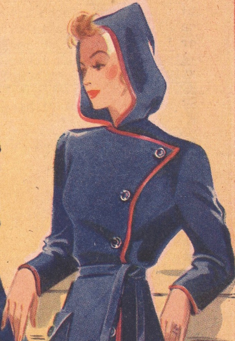 Weldons So-Easy 20 hooded wrap housecoat detail