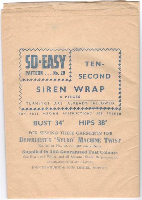 Weldons So-Easy 20 pattern tissue advertising Dewhurst's Sylko machine twist